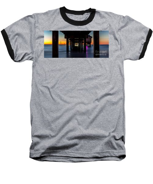 Under Clearwater Beach Pier Baseball T-Shirt by Steven Reed