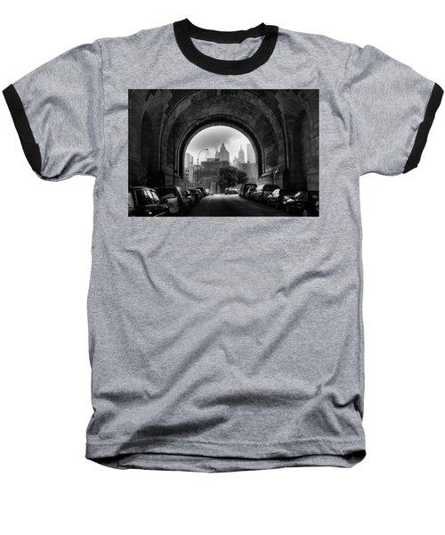 New York City - Manhattan Bridge - Under Baseball T-Shirt
