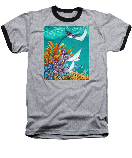 Under The Bahamian Sea Baseball T-Shirt
