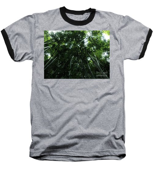 Under The Bamboo Haleakala National Park  Baseball T-Shirt by Vivian Christopher