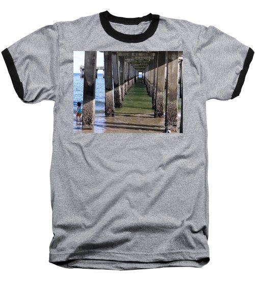 Baseball T-Shirt featuring the photograph Under The Boardwalk by Ed Weidman
