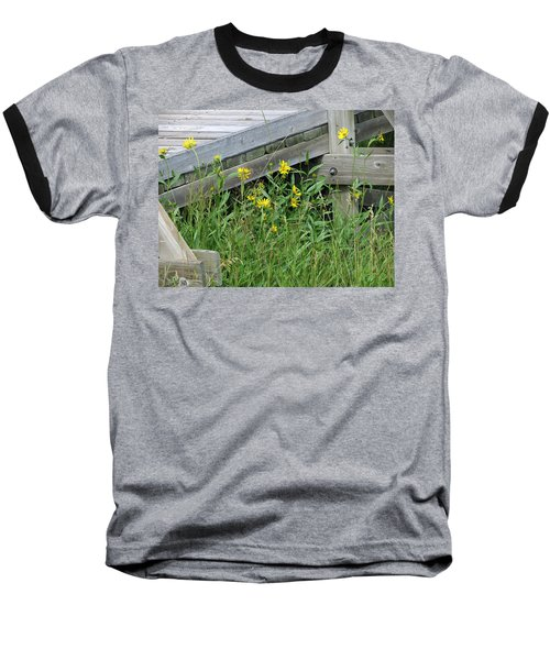 Baseball T-Shirt featuring the photograph Under The Boardwalk by Laurel Powell
