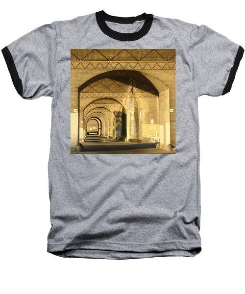 Under The Bridge Baseball T-Shirt by Joseph Skompski
