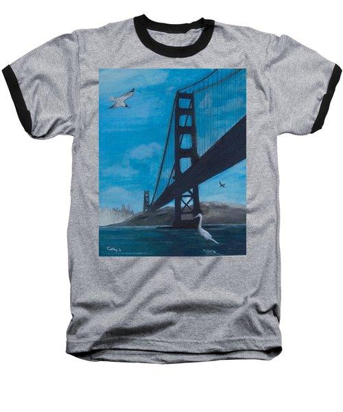 Under The Golden Gate Bridge Baseball T-Shirt by Catherine Swerediuk