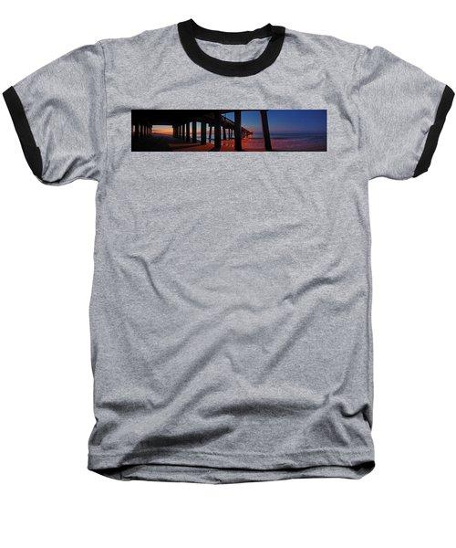 Under The Gulf State Pier  Baseball T-Shirt by Michael Thomas