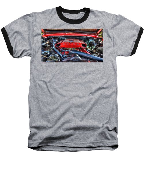 Under The Hood Baseball T-Shirt by Amanda Stadther