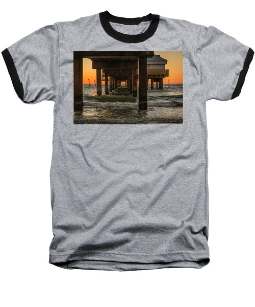 Under The Pier Baseball T-Shirt by Jane Luxton