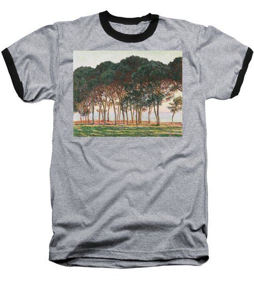 Under The Pines. Evening Baseball T-Shirt by Claude Monet