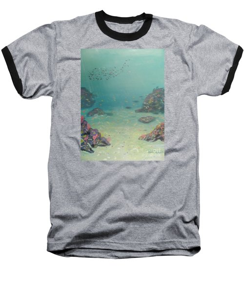 Under The Sea Baseball T-Shirt by Pamela  Meredith