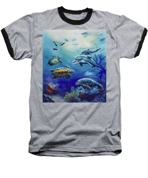 Under Water Antics Baseball T-Shirt