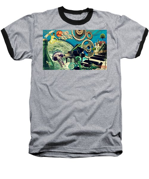 Baseball T-Shirt featuring the digital art Underwater Dreams by Ally  White