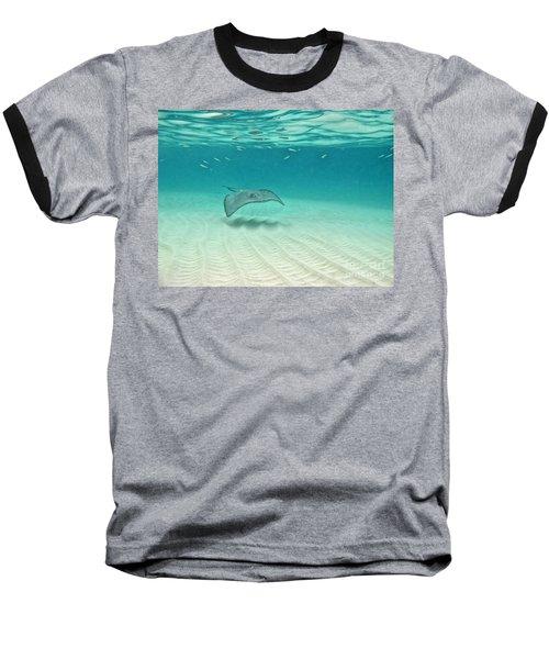 Underwater Flight Baseball T-Shirt