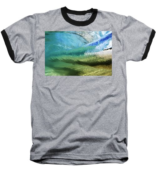 Underwater Wave Curl Baseball T-Shirt