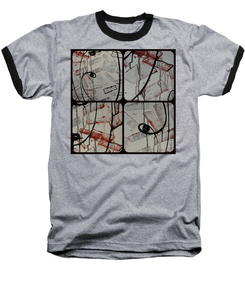 Baseball T-Shirt featuring the photograph Unfaithful Desire Part Two by Sir Josef - Social Critic - ART
