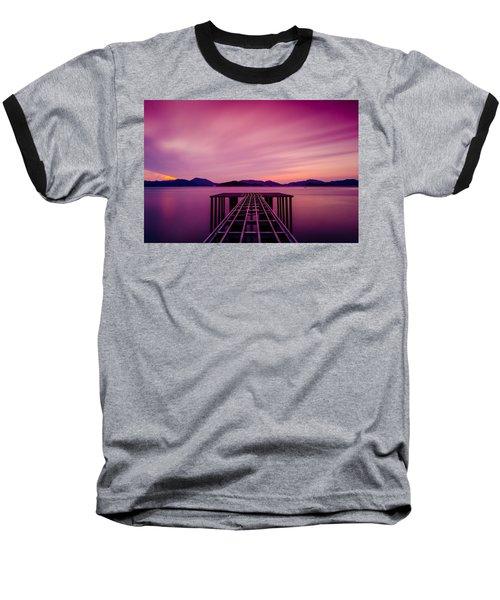Unfinished Pier At Sunset Baseball T-Shirt
