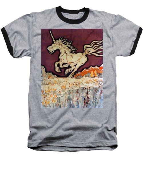 Unicorn Above Chasm Baseball T-Shirt