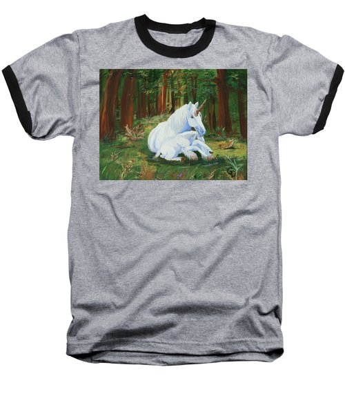 Unicorns Lap Baseball T-Shirt