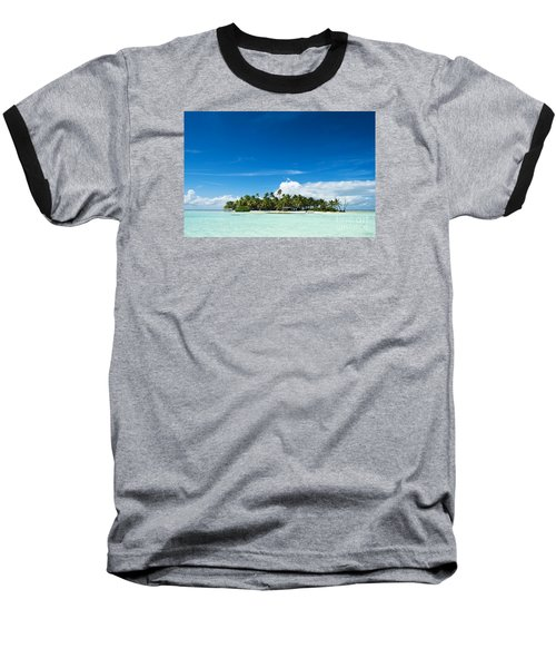 Uninhabited Island In The Pacific Baseball T-Shirt by IPics Photography