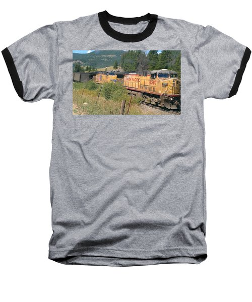 Baseball T-Shirt featuring the photograph Union Pacific 6587 by Fortunate Findings Shirley Dickerson