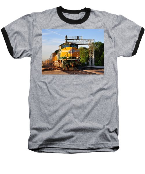 Union Pacific Chicago And North Western Heritage Unit Baseball T-Shirt