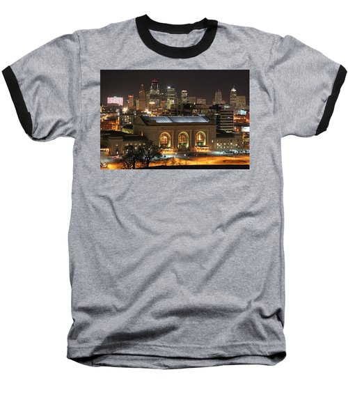 Union Station At Night Baseball T-Shirt