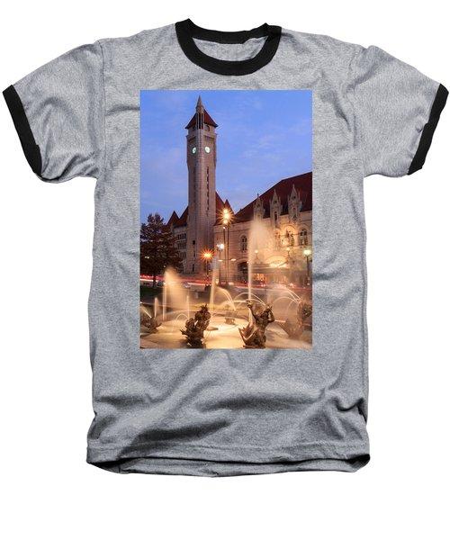Union Station In Twilight Baseball T-Shirt
