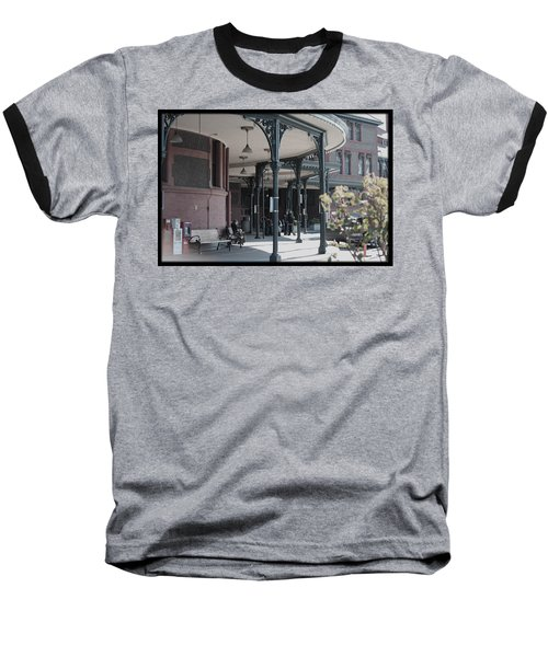 Union Street Station Baseball T-Shirt by Patricia Babbitt