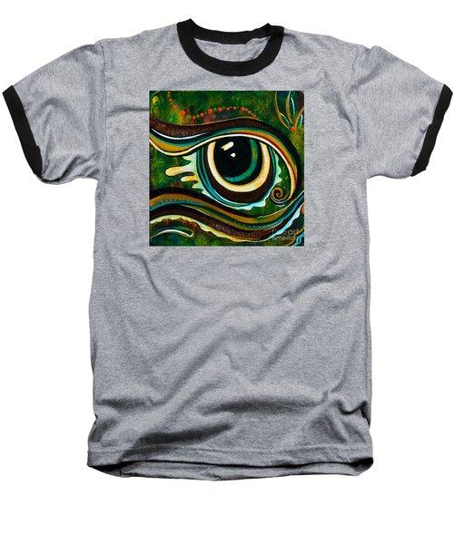 Baseball T-Shirt featuring the painting Unique Spirit Eye by Deborha Kerr