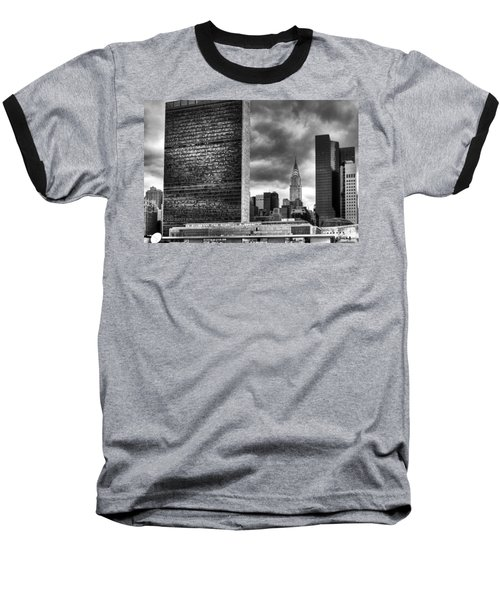 United Nations And Chrysler Building Baseball T-Shirt