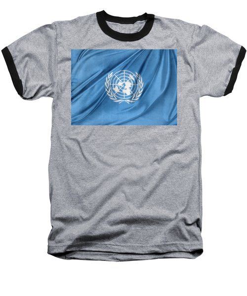 United Nations Baseball T-Shirt by Les Cunliffe