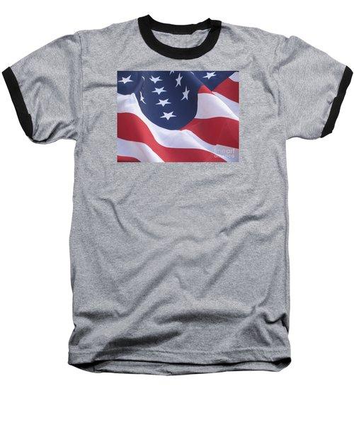Baseball T-Shirt featuring the photograph United States Flag  by Chrisann Ellis