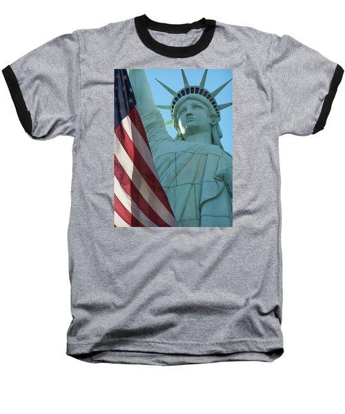 United States Of America Baseball T-Shirt by Jewels Blake Hamrick