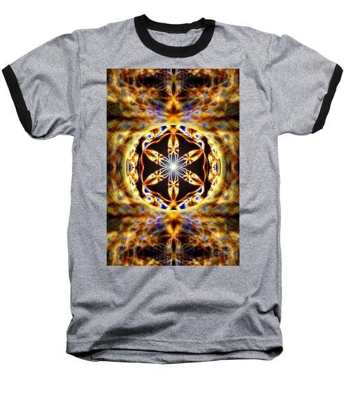 Baseball T-Shirt featuring the drawing Universal Heart Fire by Derek Gedney