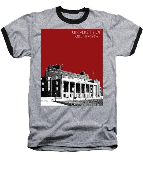 University Of Minnesota - Coffman Union - Dark Red Baseball T-Shirt