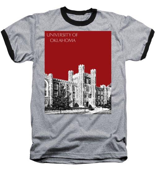 University Of Oklahoma - Dark Red Baseball T-Shirt