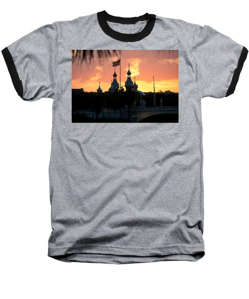 University Of Tampa Minerets At Sunset Baseball T-Shirt