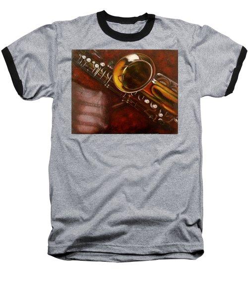 Unprotected Sax Baseball T-Shirt by Sean Connolly