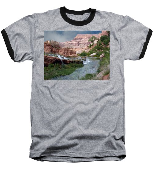 Unspoiled Waterfall Baseball T-Shirt