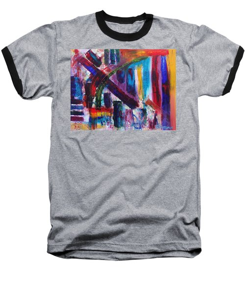 Baseball T-Shirt featuring the painting Untitled # 9 by Jason Williamson
