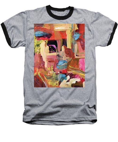 Untitled Abstract Baseball T-Shirt by Erika Pochybova
