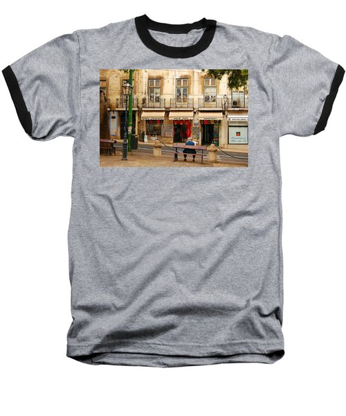 Lisbon Street Scene Baseball T-Shirt
