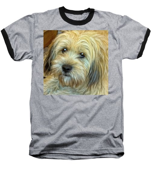 Baseball T-Shirt featuring the painting Chewy by Michael Pickett