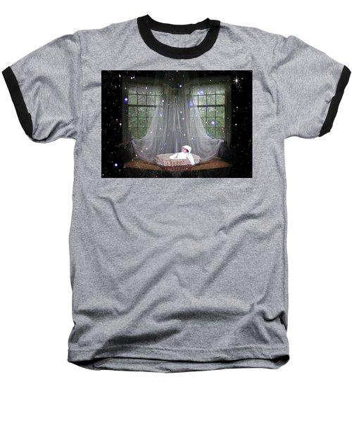 Unto Us A Child Is Born Baseball T-Shirt by Paula Ayers