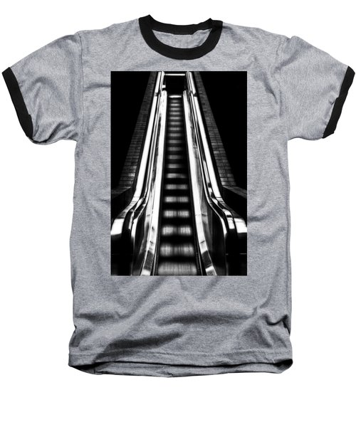 Up Or Down Baseball T-Shirt by Mark Alder