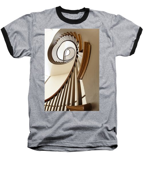 Up Stairs Baseball T-Shirt by Alexey Stiop