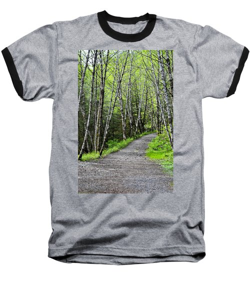 Baseball T-Shirt featuring the photograph Up The Trail by Cathy Mahnke