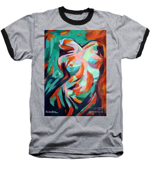 Uplift Baseball T-Shirt by Helena Wierzbicki