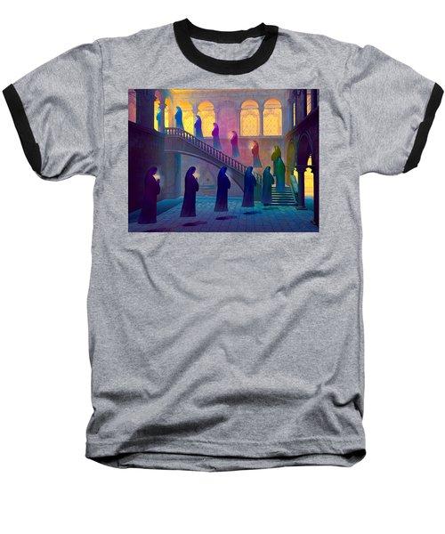 Baseball T-Shirt featuring the painting Uplifting Prayer by Dave Luebbert