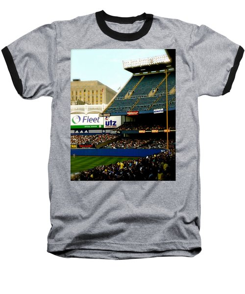 Baseball T-Shirt featuring the pyrography Upper Deck  The Yankee Stadium by Iconic Images Art Gallery David Pucciarelli
