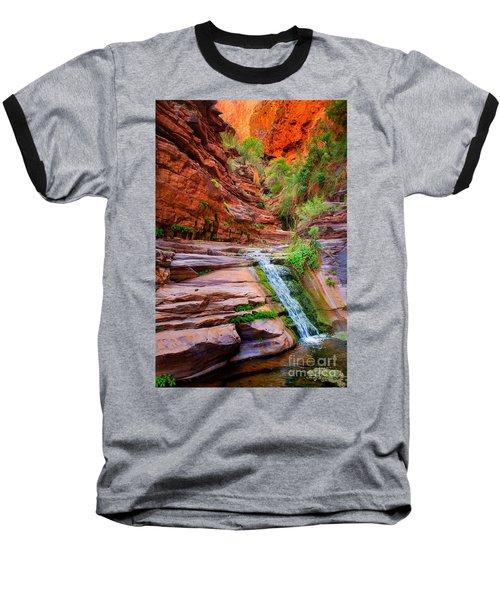 Upper Elves Chasm Cascade Baseball T-Shirt by Inge Johnsson